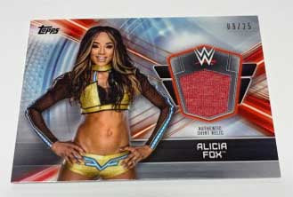 Alicia Fox WWE Topps Event Worn Shirt Relic #/25