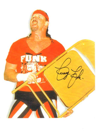 Terry Funk Pose 3 Signed Photo COA