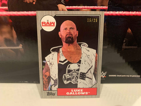 Luke Gallows WWE 2017 Topps Parallel Card #/25