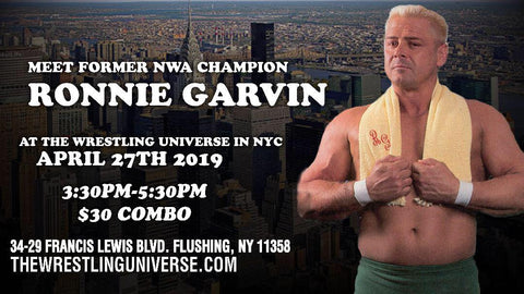 Meet Former NWA Champion Ronnie Garvin Sat April 27th 12th From 3:30PM-5:30PM COMBO (TICKETS NOT MAILED)