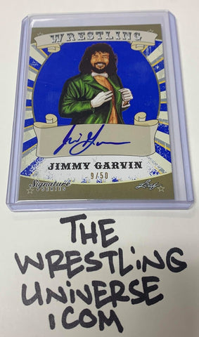 Jimmy Garvin SIGNED 2016 Leaf Auto Card #'ed 9/50