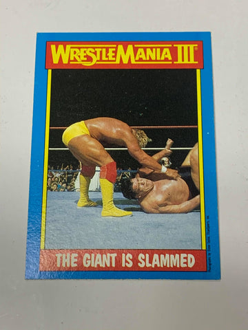 "Hulk Hogan WWE 1987 Topps ""The Giant is Slammed"" #54"