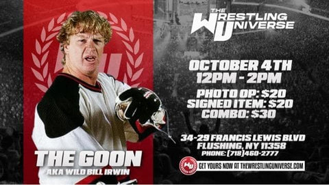 In-Store Meet & Greet with The Goon (aka Bill Irwin) Sun Oct 4th from 12-2PM TIX NOT MAILED (CHOOSE COMBO $30/SIGNED ITEM $20/PHOTO OP $20)