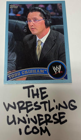 "Todd Grisham WWE Topps 2011 ""Blue Parallel"" #'ed 337/2011"