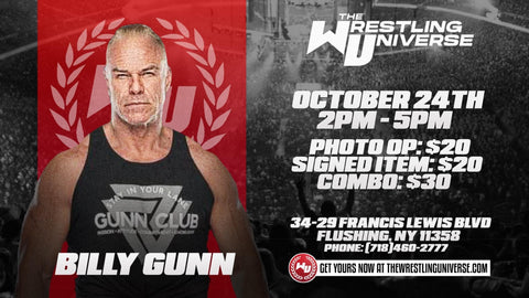 In-Store Meet & Greet with Billy Gunn Sat Oct 24th from 2-5PM TIX NOT MAILED (CHOOSE COMBO $30/SIGNED ITEM $20/PHOTO OP $20)