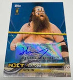 Hanson WWE/NXT Signed Rookie Card #/50