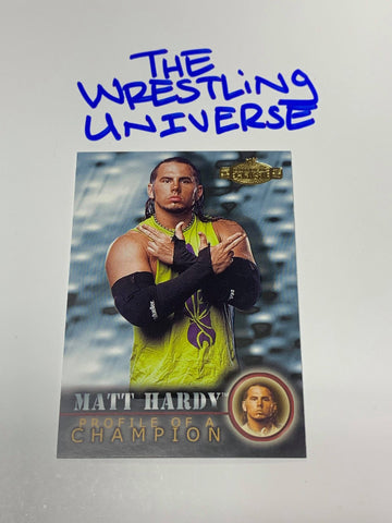 Matt Hardy WWE 2001 Fleer Championship Clash Profile of a Champion