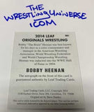 Bobby Heenan Signed 2014 Leaf Auto On Card Signed
