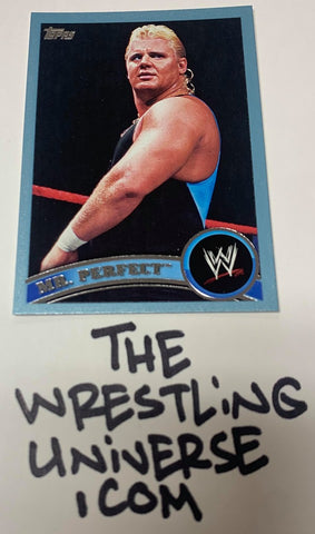 "Mr Perfect Curt Hennig WWE 2011 Topps ""Blue Parallel"" #'ed 1948/2011"