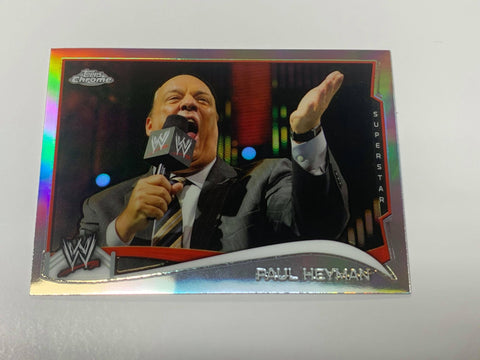 Paul Heyman WWE 2014 Topps Chrome REFRACTOR