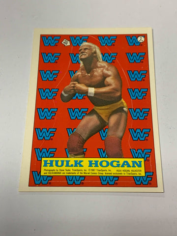 Hulk Hogan 1987 WWE Sticker Card (See Pics for Condition)