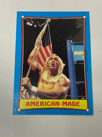 "Hulk Hogan WWE 1987 Topps ""American Made"" #35"