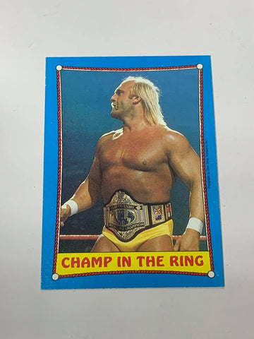 "Hulk Hogan WWE 1987 Topps ""Champ In The Ring"" #37"
