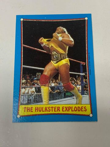 "Hulk Hogan WWE 1987 Topps ""The Hulkster Explodes"" #26"