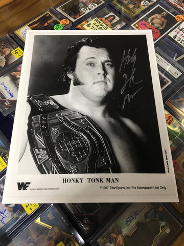 Honky Tonk Man Signed Photo COA