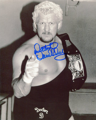 "David Schultz Inscribed ""Doctor D"" Pose 2 Signed Photo COA"