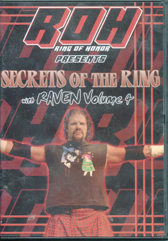 ROH Ring Of Honor Secrets of the Ring with Raven Volume 4 DVD OOP RARE