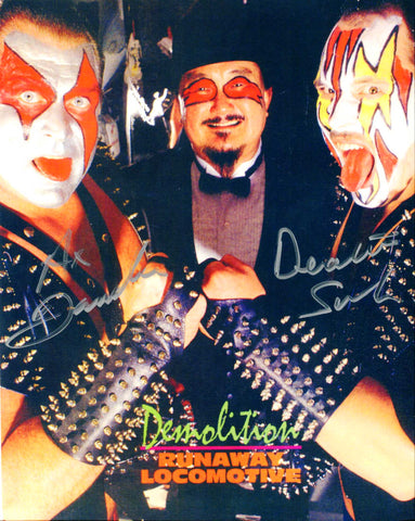 Demolition Ax & Smash Pose 7 Dual Signed Photo COA