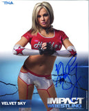 Velvet Sky Official TNA Promo Signed Photo COA