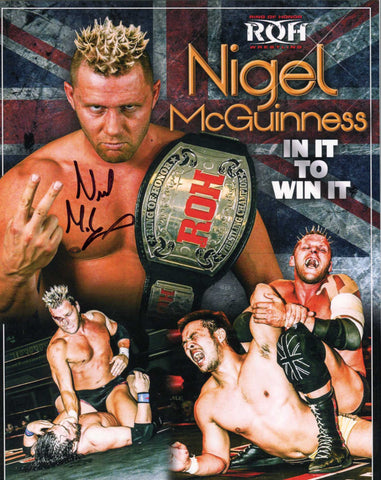 Nigel McGuinness ROH Pose 1 Signed Photo COA