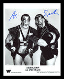 Demolition Ax & Smash Pose 8 B Dual Signed Photo COA