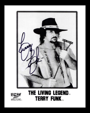 Terry Funk Pose 4 Signed Photo COA