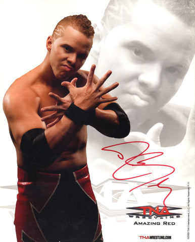 The Amazing Red Signed Official TNA Promo Photo COA