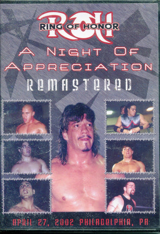 ROH Ring Of Honor Night of Appreciation Philadelphia 4/27/02 Remastered DVD (SEALED)