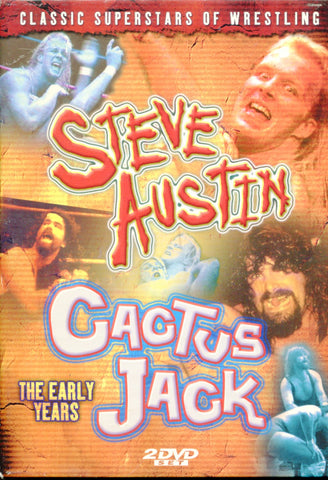 The Early Years-Steve Austin & Cactus Jack 2 Disc Set DVD (SEALED)