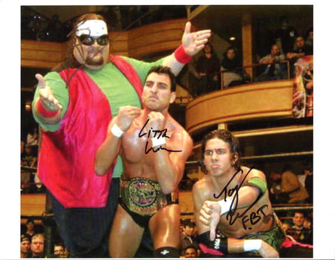 Little Guido Big Sal Tony Mamaluke ECW FBI Triple Signed Photo (IMPERFECT - SALE)