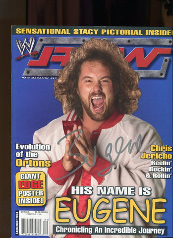 WWE Raw Magazine September 2004 Signed By Eugene COA