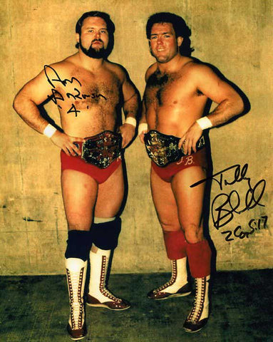 The Brain Busters (Arn Anderson & Tully Blanchard) Pose 3 Dual Signed Photo COA