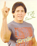 Tito Santana Signed Photo Pose 8 COA