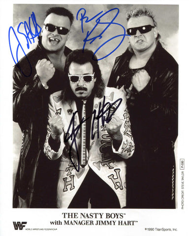 The Nasty Boys & Jimmy Hart Triple Signed Photo B COA