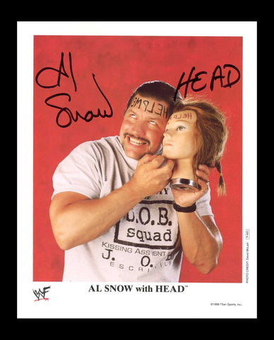 Al Snow with HEAD Official WWE Signed Promo 1998 Photo COA