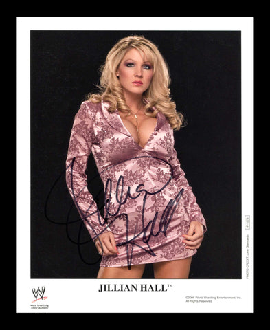 Jillian Hall Official WWE Signed Promo 2006 Photo COA