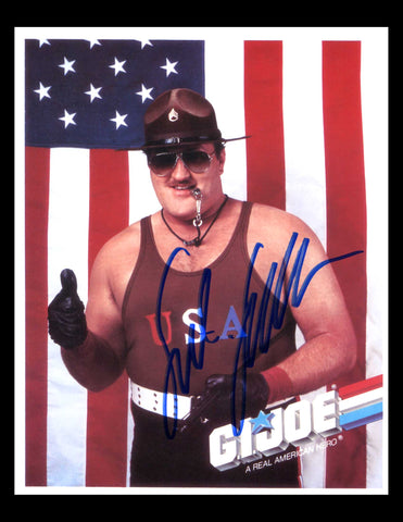 Sgt Slaughter Signed Photo COA