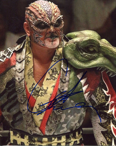 The Great Muta Pose 4 Signed Photo COA