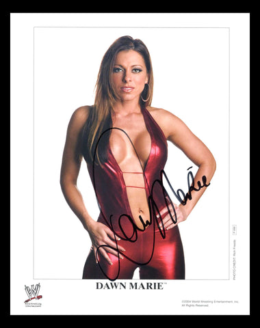 Dawn Marie Official WWE Promo Signed Photo 2004 COA