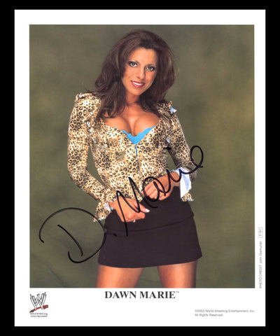 Dawn Marie Official WWE Promo Signed Photo 2003 COA