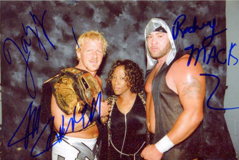 Jon Heidenreich Rodney Mack Jazz Triple Signed Candid Photo COA