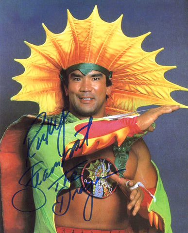 "Ricky Steamboat Pose 1 Inscribed ""The Dragon"" Signed Photo"
