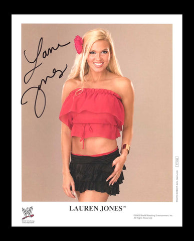 Lauren Jones Official WWE Signed Promo 2005 Photo COA
