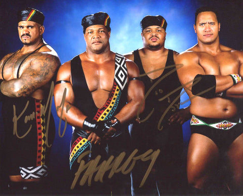 Nation of Domination (Faarooq D'Lo Brown Kama Mustafa) RARE Signed Photo