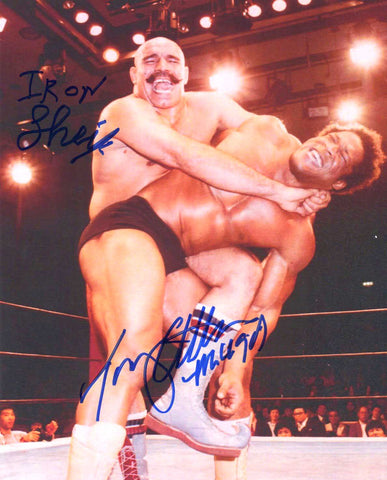 The Iron Sheik & Tony Atlas Dual Signed RARE Photo