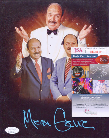 Mean Gene Okerland  Signed Photo (Blue Ink) JSA COA