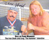 The Iron Sheik Pose 2 Signed Photo COA