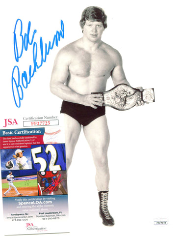 Bob Backlund Pose 1 Signed Photo JSA COA