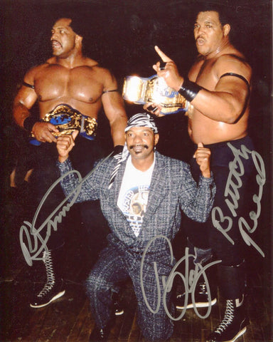 Doom (Simmons, Reed, Long) Pose 2 Triple Signed Photo RARE