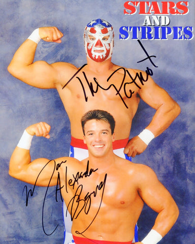 Stars and Stripes The Patriot & Marcus Alexander Buff Bagwell Dual Signed Photo